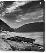 Wreck On The Lake Acrylic Print