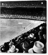 Wrigley Field, Fans Jam The Stands Acrylic Print by Everett
