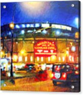 Wrigley Field Home Of Chicago Cubs Acrylic Print