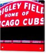 Wrigley Field Sign Acrylic Print