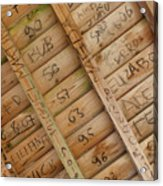 Writings On Wood Acrylic Print