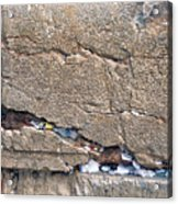 Written Prayers Western Wall Acrylic Print