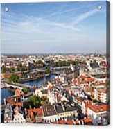Wroclaw Cityscape In Poland Acrylic Print