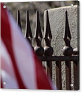 Wrought Iron And American Flag Acrylic Print