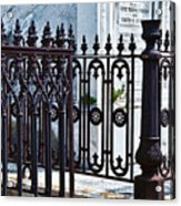 Wrought Iron Cemetery Fence Acrylic Print