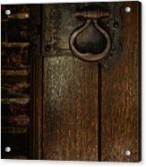 Wrought Iron Door Latch Acrylic Print