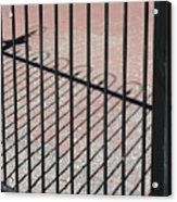 Wrought-iron Gate And Shadows Acrylic Print