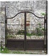 Wrought Iron Gate Acrylic Print