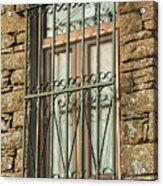 Wrought Iron - Glass - Stone Acrylic Print