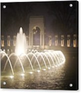 Ww 2 Memorial Fountain Acrylic Print
