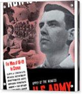 Ww2 Army Recruiting Poster Acrylic Print