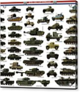 Ww2 British Tanks Acrylic Print