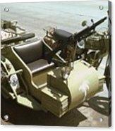 Ww2 German Sidecar And Fuel Trailer Acrylic Print