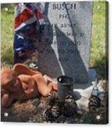 Ww2 Veterans Grave Mountain View Cemetery Casa Grande, Arizona 2004 Acrylic Print