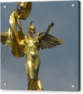 Wwi Gold Winged Victory Statue Acrylic Print