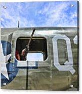 Wwii Aircraft Gun Window Acrylic Print