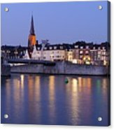 Wyck In Maastricht In The Evening Acrylic Print