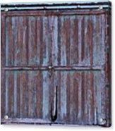 Wyoming Blue Doors Acrylic Print