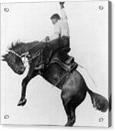 Wyoming: Cowboy, C1911 Acrylic Print