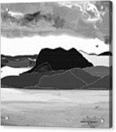 Wyoming Landscape 3 - B-w Acrylic Print