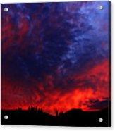 Wyoming Sunset On Fire Acrylic Print