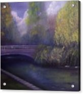 Wyomissing Creek Misty Morning Acrylic Print