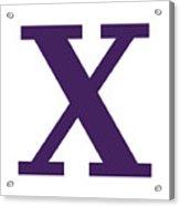 X In Purple Typewriter Style Acrylic Print
