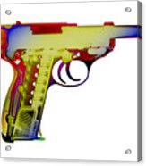 X-ray Art Of Walther P38 Acrylic Print