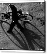 Xian Bike Lines Acrylic Print