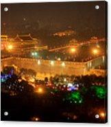 Xian City Lights Acrylic Print