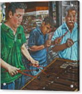 Xylophone Players Acrylic Print by Jim Barber Hove