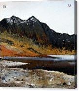 Y Lliwedd Ridge From Lake Llyn Llydaw Acrylic Print