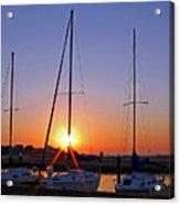 Yacht Club Sunrise Acrylic Print