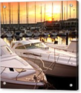 Yacht Marina Acrylic Print by Carlos Caetano
