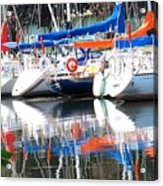 Yachts At Rest Acrylic Print