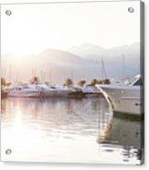 Yachts At The Sunset Acrylic Print