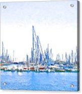 Yachts Simon Acrylic Print by Jan Hattingh