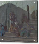 Yakovlev, Alexander 1887-1938 L Escalier, Capri, Nuit Acrylic Print