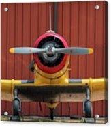 Yale And Hangar - 2018 Christopher Buff, Www.aviationbuff.com Acrylic Print