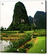 Yangshuo's Limestone Karsts Acrylic Print