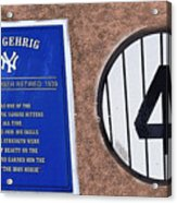 Yankee Legends Number 4 Acrylic Print