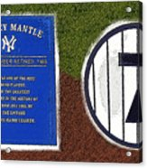 Yankee Legends Number 7 Acrylic Print