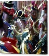 Yap Dancers In Micronesia Acrylic Print