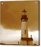 Yaquina Head Lighthouse Sepia Acrylic Print