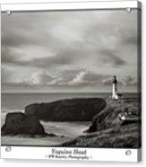 Yaquina Head Lighthouse - With Border Acrylic Print