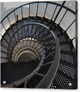Yaquina Lighthouse Stairway Nautilus - Oregon State Coast Acrylic Print by Daniel Hagerman
