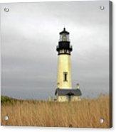 Yaquina Lighthouses - Yaquina Head Lighthouse Western Oregon Acrylic Print by Christine Till