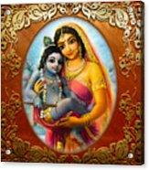 Yashoda And  Krishna 3 Acrylic Print by Lila Shravani