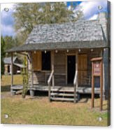 Yates Homestead Built In 1893 On Taylor Creek In Central Florida Acrylic Print