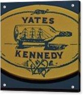 Yates Kennedy Sign Provincetown Acrylic Print